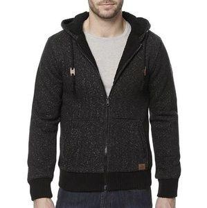 Buffalo David Bitton Marled Black Knit Hood Jacket